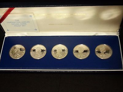 Coronation Jubilee Crown Coins Silver Proof Set Franklin Mint Issue 1978