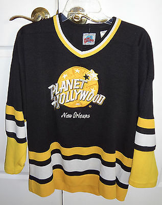 Vintage Rare Planet Hollywood Hockey Jersey New Orleans- size M