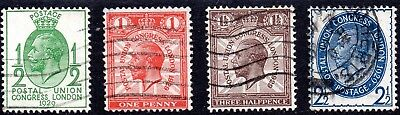1929 Sg 434/7 Ninth Universal Postal Union Congress Low Values Good Used Set
