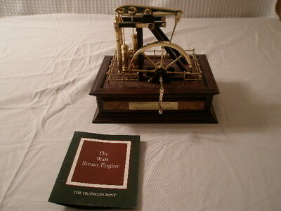 Franklin Mint scaled model of the Watts steam engine COA
