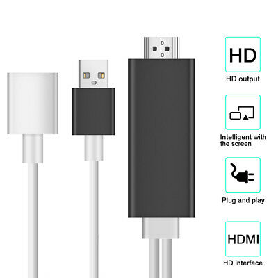 8 Pin Lightning to HDMI TV AV Adapter Cable for iPad Mini 2 3 4 iPhone 6S 7 Plus