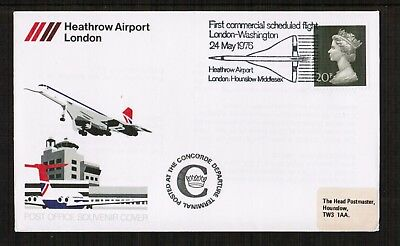 1976 Concorde Cover posted from Heathrow Airport