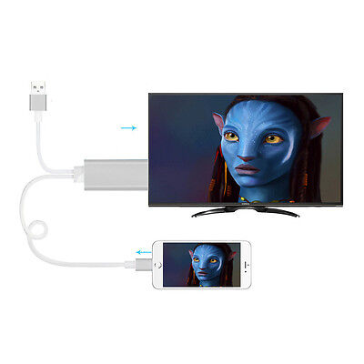 3 in 1 Funktion Mikro USB Typ C iOS auf HDMI Adapter Kabel HDTV TV 180cm