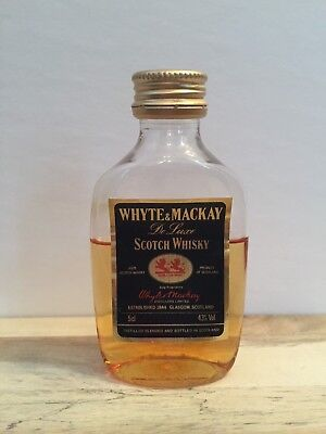 Miniature mini bottle non ouverte SCOTCH WHISKY Deluxe Whyte & Mackay 50 ml