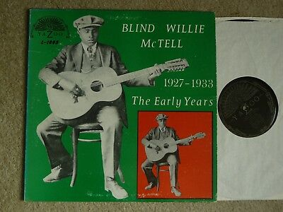 Blind Willie Mctell The Early Years 1927-1933 Yazoo Lp Vg+/nm