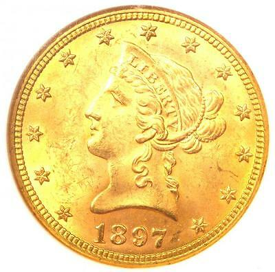 1897 Liberty Gold Eagle ($10 Coin) - NGC MS64 - Rare in MS64 - $2,000 Value!
