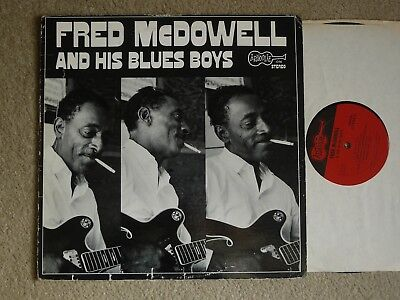 Fred Mcdowell And His Blues Boys Arhoolie Lp Vg-/vg+ Blues
