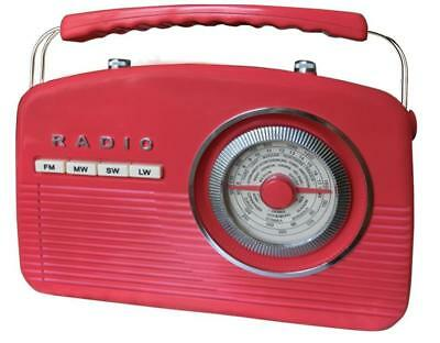 Camry Cr 1130 Retro Radio Portables (Rouge) Cr1130 Red