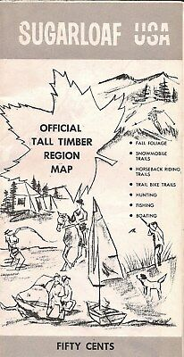 Sugarloaf USA Official Tall Timber Region Map/Brochure/Businesses