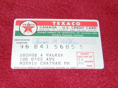 1960's Texaco credit card