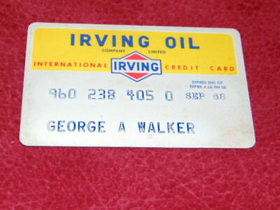 1960's Irving Oil credit card