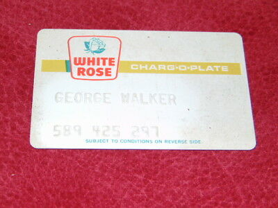 1960's White Rose credit card