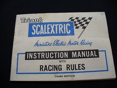 Vintage Triang Scalextric Third Edition Instruction Manual 1960s