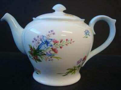 Shelley Wild Flowers Pale Blue Large 2 Pint Teapot