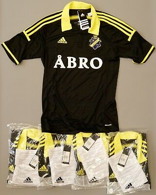 Bulk Deal of 5 AIK Solna home jerseys in sizes small and med adults (new in bag)