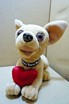 "6"" Taco Bell Chihuahua-Red Satin Heart-Growls"