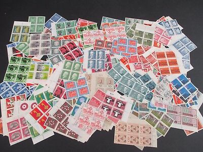 GERMANY WEST - SUPERB COLLECTION OF 300+ MNH BLOCKS OF 4 - 1950s/1980s