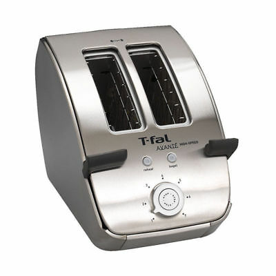 T-Fal Avante TWO Slice Toaster - Stainless - Defrost and Bagel Setting