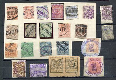(OC430) Colombia Bogota Cartagera used stamps cancellations