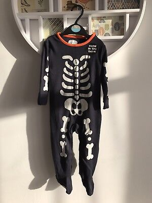 Brand New BNWOT baby children's Skeleton Outfit Costume 6-9 Months Halloween