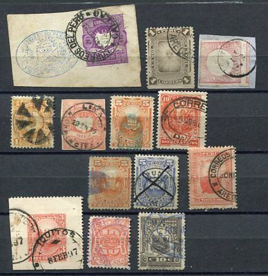 (OC439) Peru classic used stamps vf cancellations