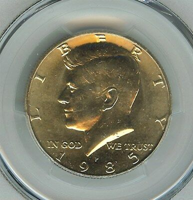 1985-P Kennedy 50 Cents  Pcgs Ms66