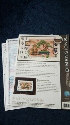 Dimensions Bonsai and Budda cross stitch chart only