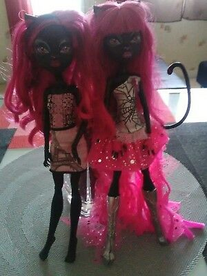 lot de deux poupées Monster high cathy noir