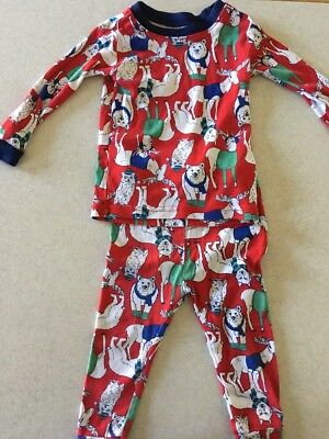 Infant Boys Gap Winter Theme Pajamas 12-18m