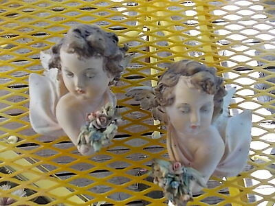 Antique Pair of A. Borsato Ceramiche D'Arte Milano Angels