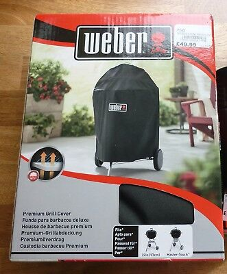 WEBER Premium charcoal BBQ GRILL COVER Black NEW 57cm 22.5in item no 7143