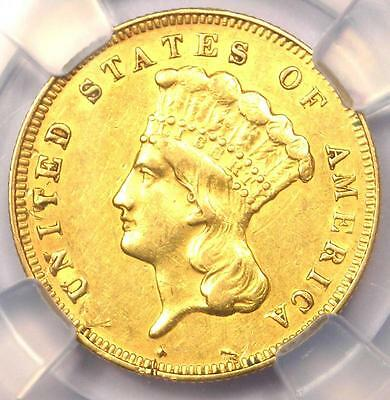 1878 Three Dollar Indian Gold Piece $3 - Certified NGC AU Details - Rare Coin!