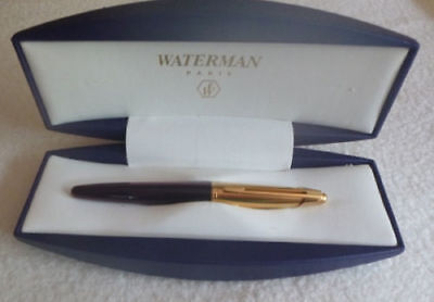 Waterman Edson  Ruby Red & Gold Trim  Fountain Pen Fine  Pt New In Box