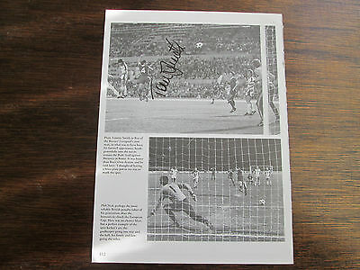 Tommy Smith Terry McDermott signed book page Liverpool