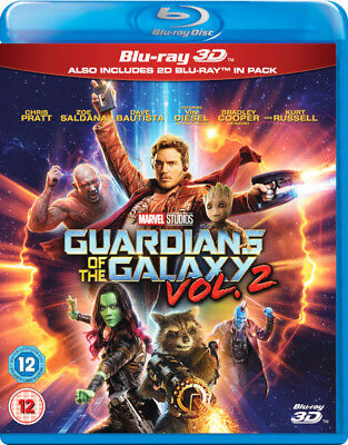Guardians of the Galaxy Vol.2 3D [BR3D, Region Free, Marvel, Pratt, Diesel] NEW