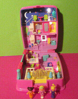 Polly Pocket Mini ♥ Star Bright Dinner Party ♥ 100% Komplett ♥ 1994 ♥ LICHT ♥