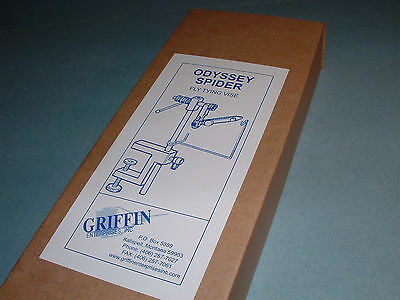 Griffin Odyssey Spider Fly Tying Vise Full True Rotary Made in USA ODY-SP