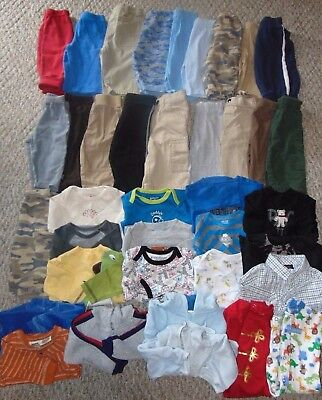 Lot Baby Boy Clothes Winter 3/6 months sleepers pants LS shirts