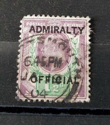 Gb Stamps King Edward Vii Sg O103 1 1/2D Value Admiralty Official Used