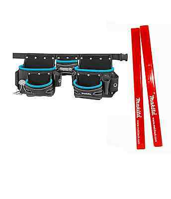 Makita P-71772 3 Pouch Belt Set Blue P71772 + 2 Makita Pencils