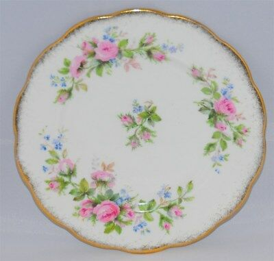 """1-Roslyn Moss Rose Bread & Butter Plate  6 1/4"""" Inches (2 Available)"""