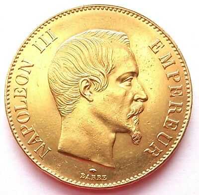 1859A France 100Fr Gold One Hundred Francs Coin