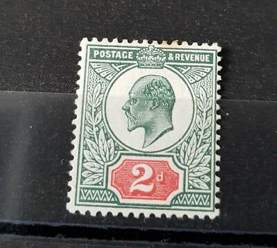 Gb Stamps King Edward Vii Sg 226 2D Grey Green And Carmine Red M/mint