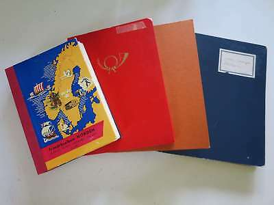 USA - SCANDINAVIE et GRECE  LOT A TRIER en 2 classeurs + album + farde °/bo770