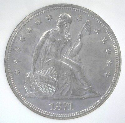 1871 Seated Liberty Silver Dollar  Choice Uncirculated