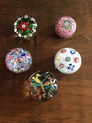 Lot Of Antique Vintage Glass Paperweights