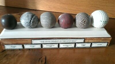 Collectable Vintage Golf Balls Pen Box, 'The Development of the Golf Ball'