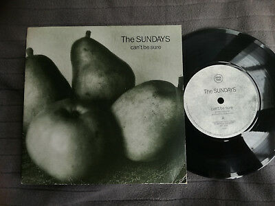 """THE SUNDAYS Can't Be Sure UK Rough Trade 7"""" picture sleeve vinyl record indie"""
