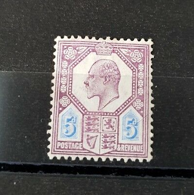 Gb Stamps King Edward Vii Sg 242A 5D Dull Purple And Ultramarine M/mint