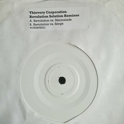 "THIEVERY CORPORATION Revolution Solution Remixes UK white label 7"" vinyl record"